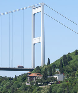 Fatih Sultan Mehmet Bridge Asian Shore Tower