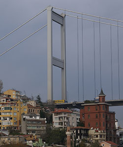 Fatih Sultan Mehmet Bridge European Shore Tower